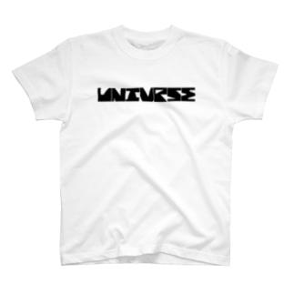 UNIVRSEオリジナルフォント T-shirts