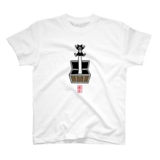 宝箱からニャー!Tシャツ T-shirts