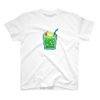 ドッド画メロンクリームソーダ T-shirts