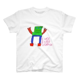BOMB BOMB CABBAGE くん T-shirts