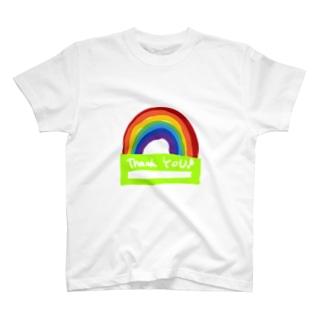 手書きの虹Tシャツ T-shirts
