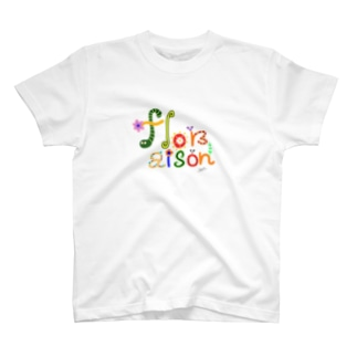 earlyalilyのfloraisonロゴシリーズ💐 T-shirts