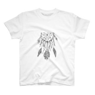 シンプルドリームキャッチャー T-shirts
