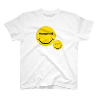 スマイル Big&Small T-shirts