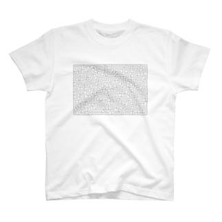 子供と遊べる迷路 T-shirts