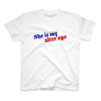 架空の銀座通り商店街のレンタル彼女 金が絡めば別人格 T-shirts