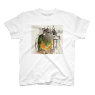 モズのアクリルブロック T-shirts
