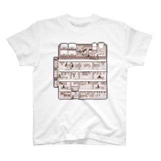 ビルディング T-shirts
