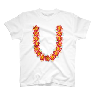 ハワイアンレイレッド T-shirts
