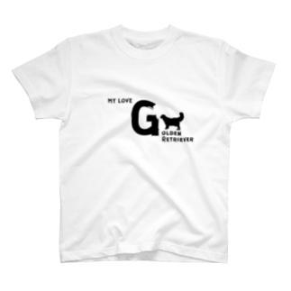 MY LOVE GOLDEN RETRIEVER(ゴールデンレトリバー) T-shirts