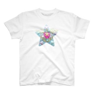 変身!光るペンダント☆ブルー T-shirts