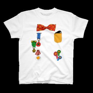 屋台のえらくなるTシャツ(あか) T-shirts