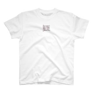 心の窓を開くねこ T-shirts