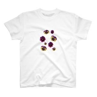 お花畑(パンジー) T-shirts
