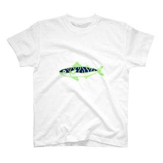 鯖のイラスト T-shirts