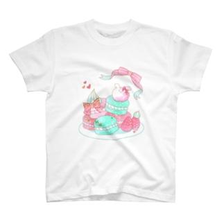 うさぎマカロン T-shirts
