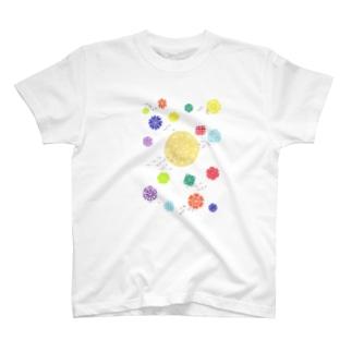 Maru ⭕ Mandala 花雲流 T-shirts