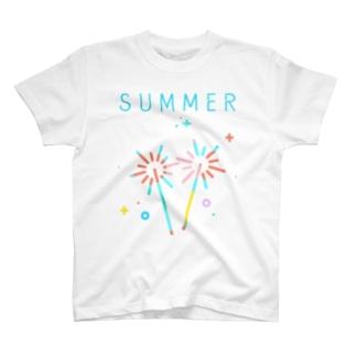 奪われた夏のひととき。 文字あり T-shirts