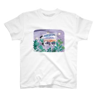 海の見える夕暮れ T-shirts