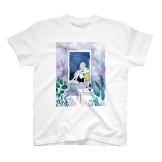 漁り火の見える窓 T-shirts