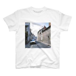 FUCHSGOLDのフランス:ブロワの風景 France: view of Blois T-shirts