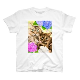 ぶくちゃん、みーみちゃん T-shirts