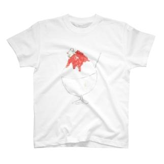 かき氷の頂上で会いましょう Tシャツ T-shirts
