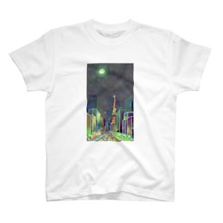 moonlight garden T-shirts