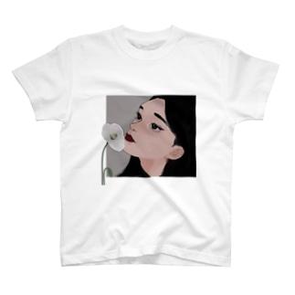 ヒナゲシ(透過) T-shirts