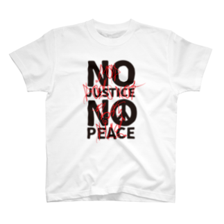 FickleのNO JUSTICE NO PEACE 2 T-shirts