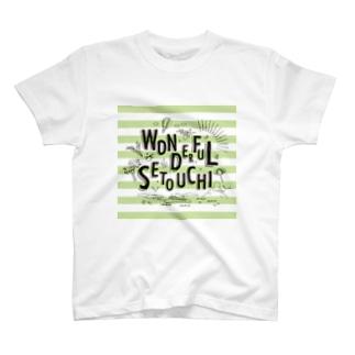 WONDERFUL SETOUCHI GREEN T-shirts