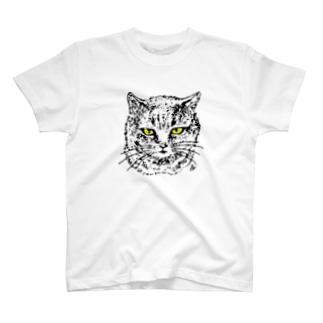 グレーねこのいちごちゃん T-shirts