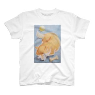 お昼寝柴犬ハッピー T-shirts