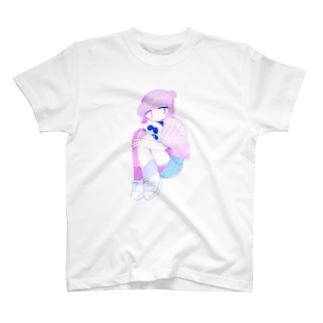 にこにこぱんだと女の子 T-shirts