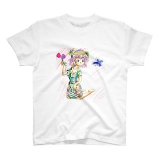 お花ガール T-shirts