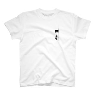 のぞきネコ T-shirts