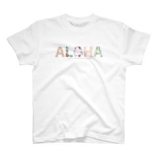 ALOHA フラミンゴ 035 T-shirts