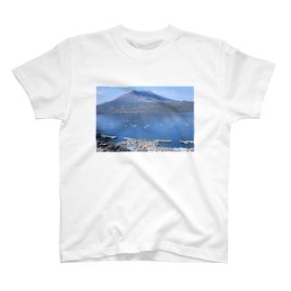鹿児島 桜島風景 T-shirts