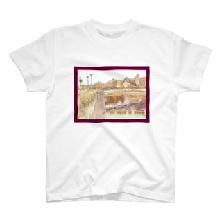 CG絵画:パリのセーヌ川 CG art: La Seine à Paris T-shirts