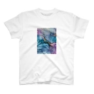 【完全オリジナル】持ち歩けるアートシリーズ アルコールインクアート T-shirts