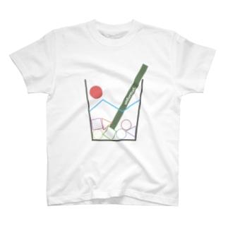 コップから落ちそう T-shirts