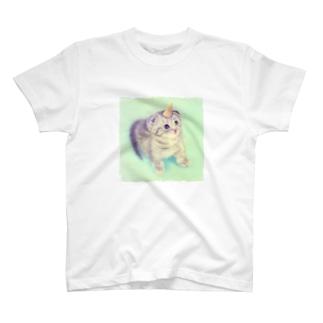 萌獣 猫 ユニャコーン/ゆにゃんこ:とんがりコーン T-shirts