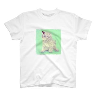 萌獣 猫 ユニャコーン/ゆにゃんこ:たけのこの里 T-shirts