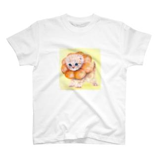萌獣 猫 ポンデニャイオン T-shirts