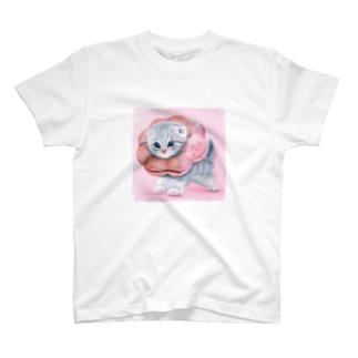 萌獣 猫 ポンデニャイオン:さくらんぼ T-shirts