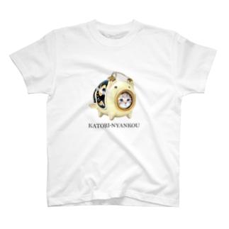 萌獣 猫 かとりにゃんこう:こいのぼり T-shirts