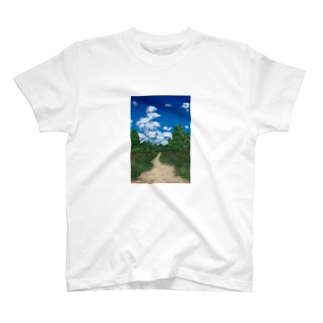 あぜ道と入道雲 T-shirts