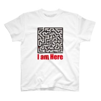 迷路 I am Here T-shirts