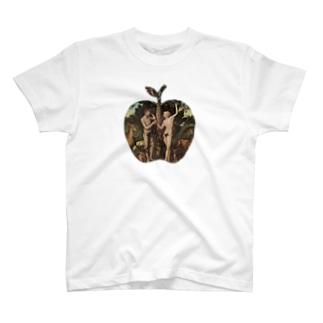 アダムとエバ (アダムとイブ)  Tシャツ 修正版 T-shirts