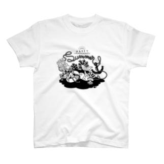 Summer vacation (Black) T-shirts
